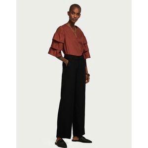 SCOTCH & SODA Wide Leg Black Trousers Pants SMALL